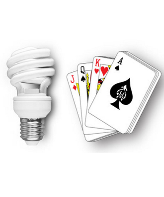 CFL Light Playing Cards